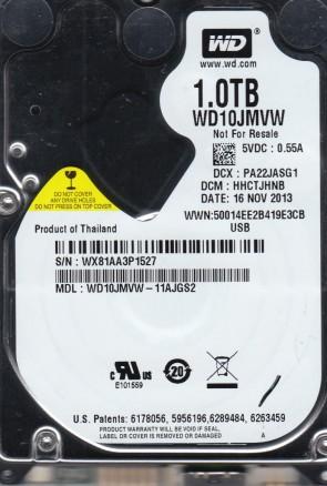 WD10JMVW-11AJGS2, DCM HHCTJHNB, Western Digital 1TB USB 2.5 Hard Drive