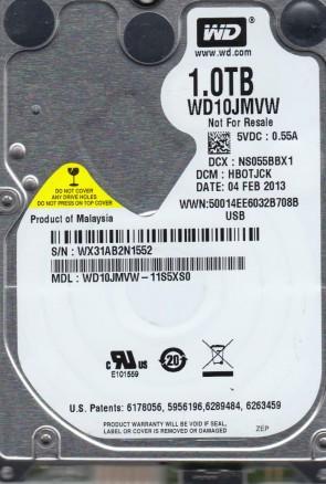 WD10JMVW-11S5XS0, DCM HBOTJCK, Western Digital 1TB USB 2.5 Hard Drive