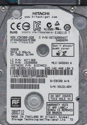 HTS545032A7E380, PN 0J23463, MLC DA5243, Hitachi 320GB SATA 2.5 Hard Drive