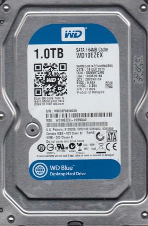 WD10EZEX-22BN5A0, DCM DGNNKT2MG, Western Digital 1TB SATA 3.5 Hard Drive