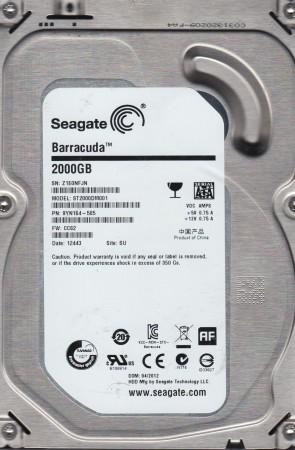ST2000DM001, Z1E, SU, PN 9YN164-505, FW CC82, Seagate 2TB SATA 3.5 Hard Drive