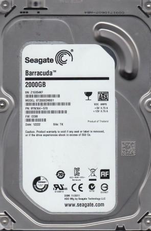 ST2000DM001, Z1E, TK, PN 9YN164-570, FW CC9B, Seagate 2TB SATA 3.5 Hard Drive