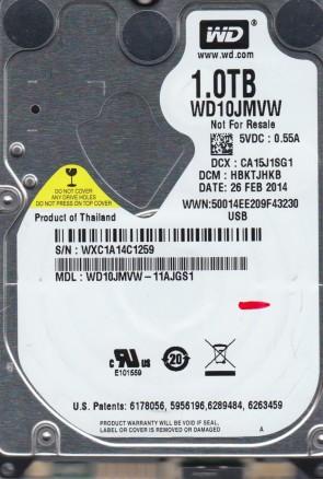 WD10JMVW-11AJGS1, DCM HBKTJHKB, Western Digital 1TB USB 2.5 Hard Drive
