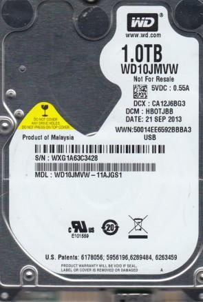 WD10JMVW-11AJGS1, DCM HBOTJBB, Western Digital 1TB USB 2.5 Hard Drive