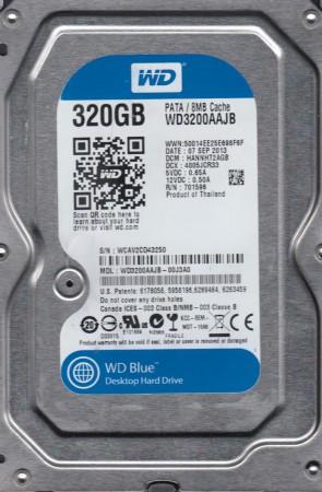 WD3200AAJB-00J3A0, DCM HANNHT2AGB, Western Digital 320GB IDE 3.5 Hard Drive