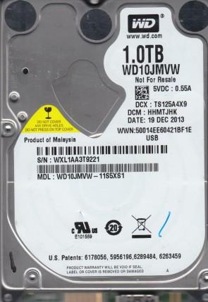 WD10JMVW-11S5XS1, DCM HHMTJHK, Western Digital 1TB USB 2.5 Hard Drive