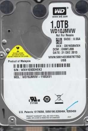 WD10JMVW-11S5XS1, DCM EHMTJBB, Western Digital 1TB USB 2.5 Hard Drive