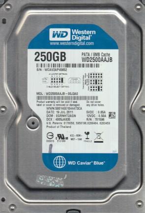 WD2500AAJB-00J3A0, DCM EGRNHT2AGN, Western Digital 250GB IDE 3.5 Hard Drive