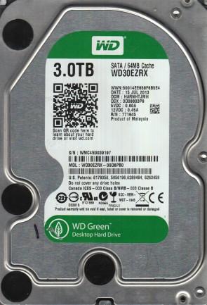 WD30EZRX-00D8PB0, DCM HARNHTJMH, Western Digital 3TB SATA 3.5 Hard Drive