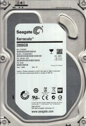 ST2000DM001, Z1F, TK, PN 1E6164-570, FW SC48, Seagate 2TB SATA 3.5 Hard Drive