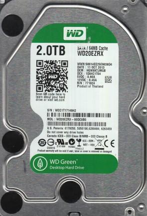 WD20EZRX-00DC0B0, DCM HGNNKTJMGB, Western Digital 2TB SATA 3.5 Hard Drive