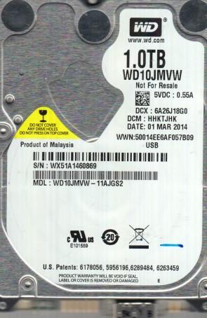 WD10JMVW-11AJGS2, DCM HHKTJHK, Western Digital 1TB USB 2.5 Hard Drive