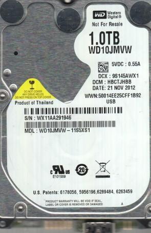 WD10JMVW-11S5XS1, DCM HBCTJHBB, Western Digital 1TB USB 2.5 Hard Drive