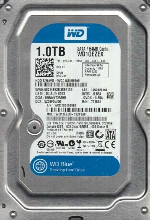 WD10EZEX-75ZF5A0, DCM EHNNKT2MHB, Western Digital 1TB SATA 3.5 Hard Drive