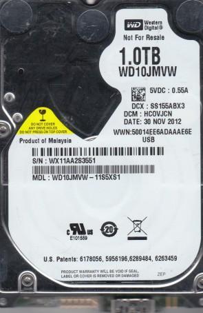 WD10JMVW-11S5XS1, DCM HCOVJCN, Western Digital 1TB USB 2.5 Hard Drive