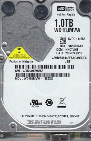 WD10JMVW-11S5XS1, DCM HHCTJHB, Western Digital 1TB USB 2.5 Hard Drive