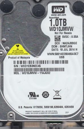 WD10JMVW-11AJGS2, DCM SHMTJHN, Western Digital 1TB USB 2.5 Hard Drive