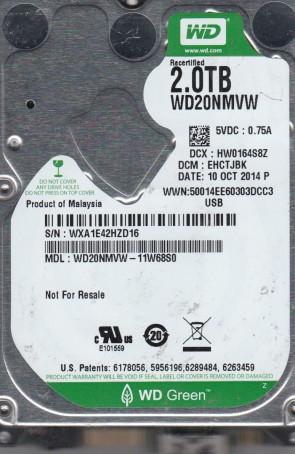 WD20NMVW-11W68S0, DCM EHCTJBK, Western Digital 2TB USB 2.5 Hard Drive