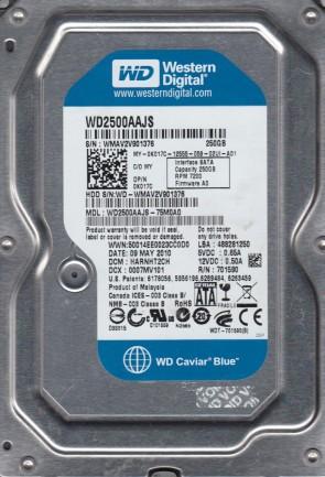 WD2500AAJS-75M0A0, DCM HARNHT2CH, Western Digital 250GB SATA 3.5 Hard Drive