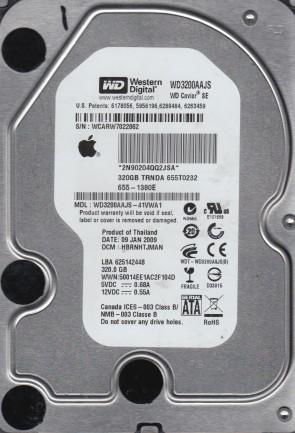 WD3200AAJS-41VWA1, DCM HBRNHTJMAN, Western Digital 320GB SATA 3.5 Hard Drive