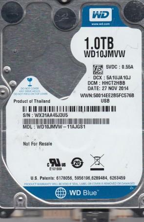 WD10JMVW-11AJGS1, DCM HHCT2HBB, Western Digital 1TB USB 2.5 Hard Drive