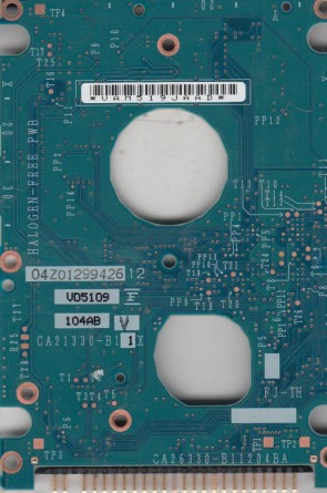 MHU2100AT, CA06499-B140000T, CA26330-B11204BA, Fujitsu IDE 2.5 PCB