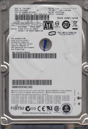 MHY2160BH, PN CA06889-B377000T, Fujitsu 160GB SATA 2.5 Hard Drive